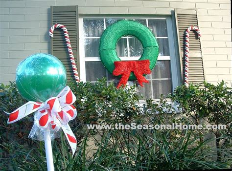 christmas yard lollipops outdoor a decorating idea 171 the seasonal home