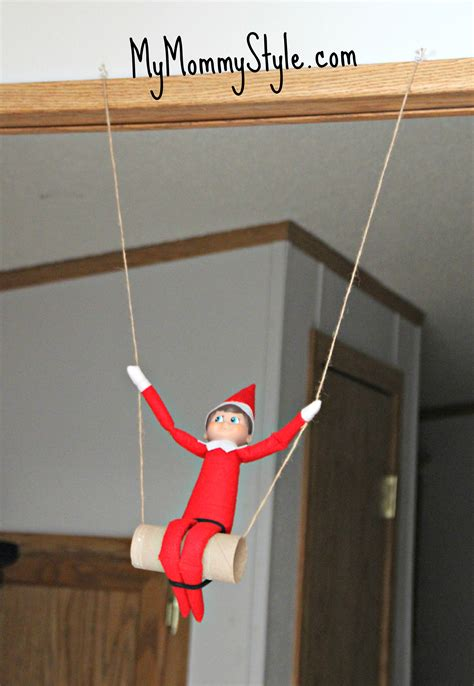 is swinging a good idea fun elf on the shelf ideas my mommy style