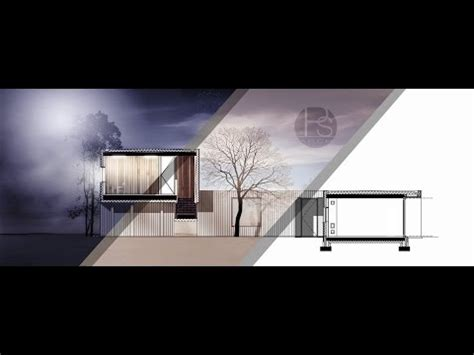 render section section architecture rendering by photoshop midnight
