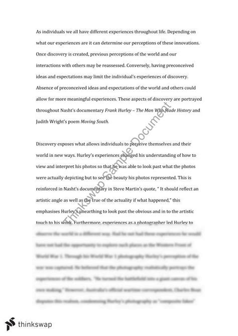 Hsc Discovery Essay Questions by Area Of Study Discovery Year 12 Hsc Advanced Thinkswap