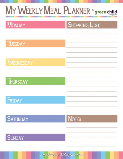 easy printable meal planner weekly meal planner free printable free printable meal