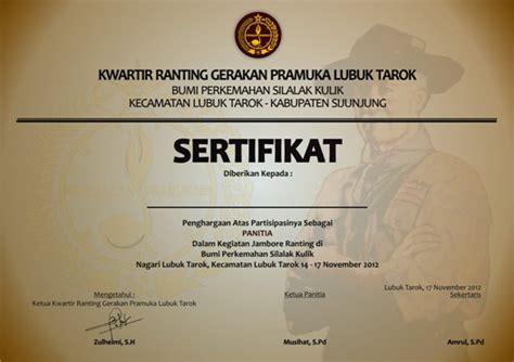 contoh sertifikat contoh sertifikat o clock offsite design and printing
