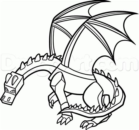 minecraft ender dragon coloring page dragon coloring kids