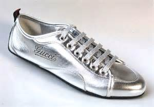 gucci athletic shoes new gucci large logo silver leather sneakers athletic