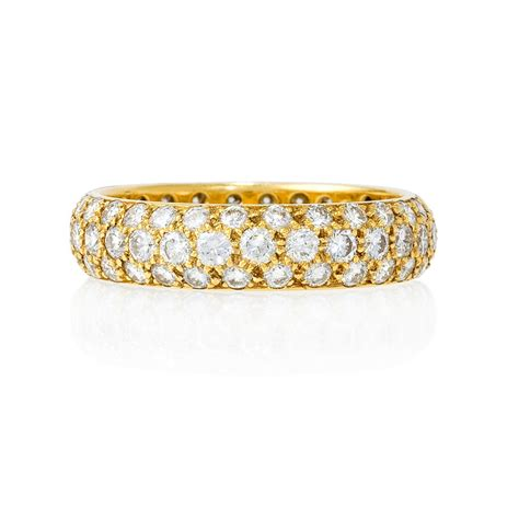 18k Gold Wedding Band by 1 97ct 18k Yellow Gold Eternity Wedding Band Ring