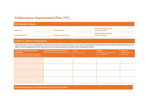 41 Free Performance Improvement Plan Templates Exles Free Template Downloads Improvement Plan Template