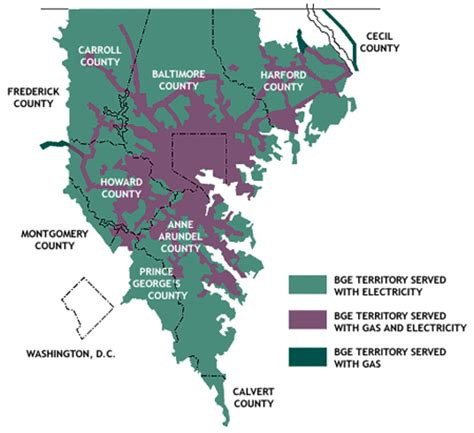 map of maryland electric utility site solutions baltimore gas and electric company