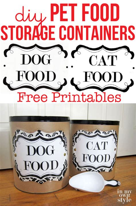 Ballard Designs Com diy pet food storage containers in my own style