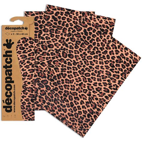 printable fabric sheets hobbycraft decopatch natural leopard print paper 3 sheets hobbycraft