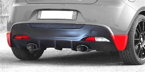 alfa romeo mito rear bumper cadamuro alfa mito rear bumper spoiler with diffusor alfa romeo shop tuning styling