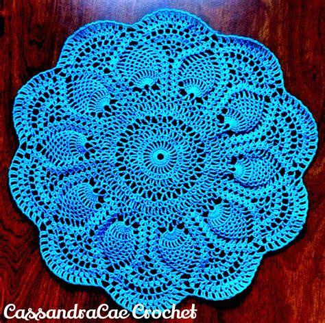 crochet doily pink pineapple doily free crochet pattern