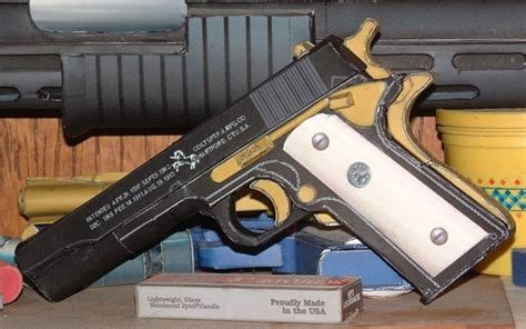 Papercraft Revolver - 45 cal pistol papercraft papercraft paradise