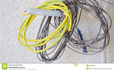 coloured electric wires stock photo image 40663664