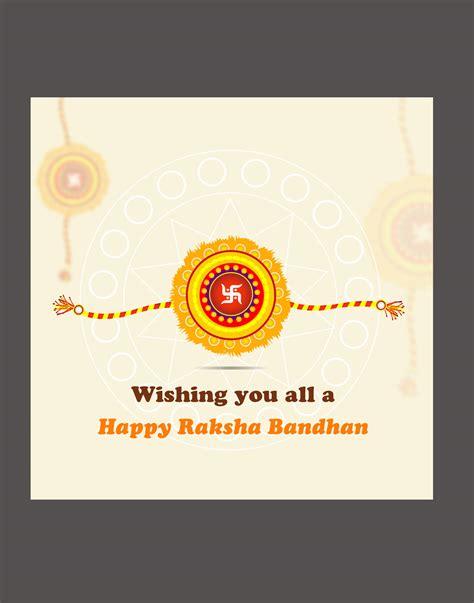 Greeting Card Templates For Raksha Bandhan by Raksha Bandhan Vector Templates