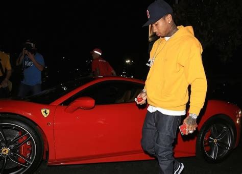 tyga yellow bentley tyga s ferrari gets repossessed while he was shopping for