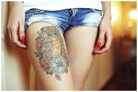 owl tattoo thigh owl tattoo ideas best tattoo 2014 designs and ideas for
