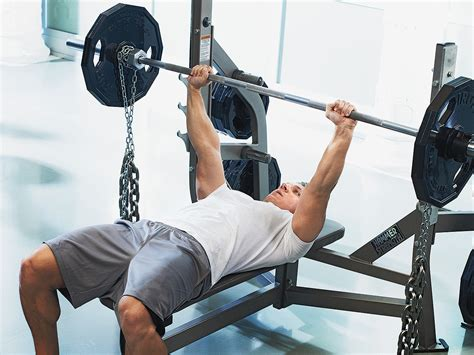 chains on bench press 15 minute workout pump up your pecs men s fitness