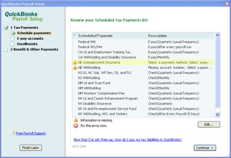 quickbooks tutorial payroll setup e file state forms e pay state taxes separately in