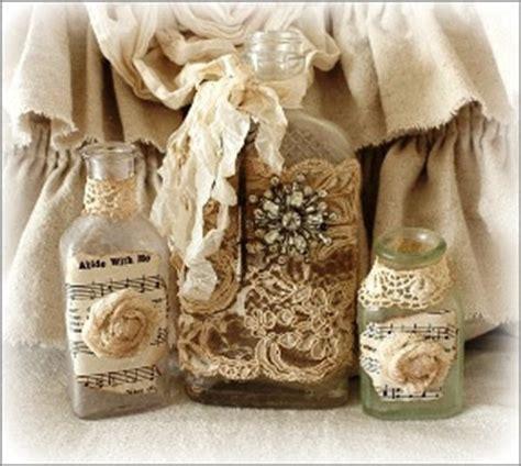 Burlap Bahan Goni By Trend Setter kerajinan tangan dari botol bekas hiasan meja dari botol