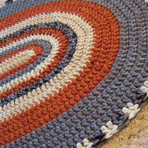 custom made rugs made oval crochet rug custom made to order 28 x 45 you your colors by margaret b rugs