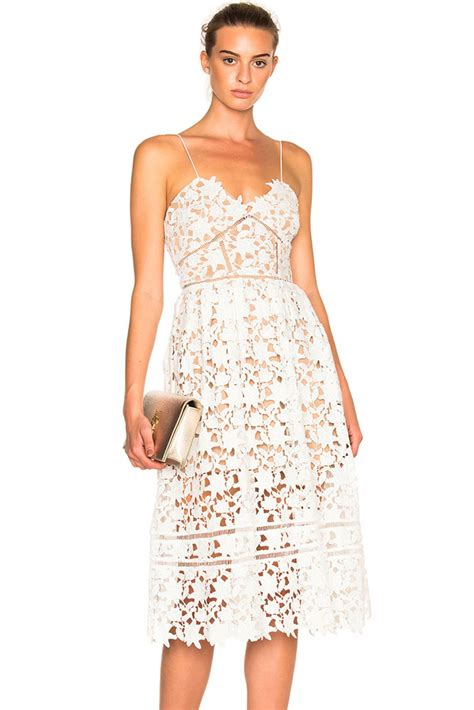 Hollow Out Dress sale white lace hollow out illusion dress