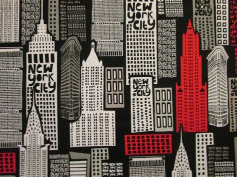 upholstery new york city nyc new york city building cotton fabric fat quarter or custom