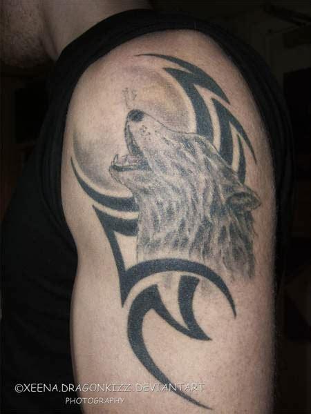 Popular Wolf Tribal Tattoo Best Tribal Tattoos Wolf