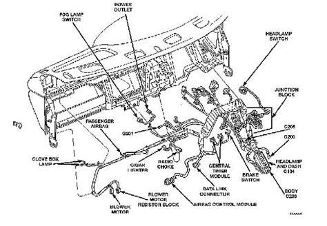2001 dodge ram 1500 steering column diagram car interior