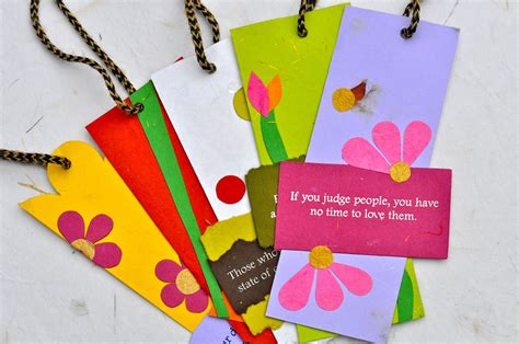 Handmade Book Marks - handmade bookmarks with quotes photograph by robin