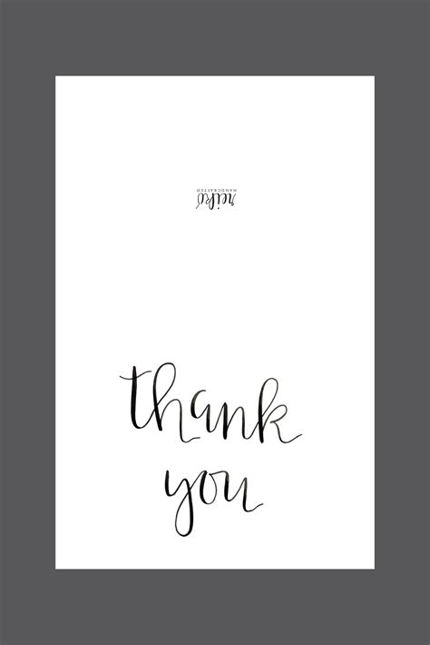 Thank You Card Template Black And White Printable Www Imgkid Com The Image Kid Has It Thank You Card Template Black And White