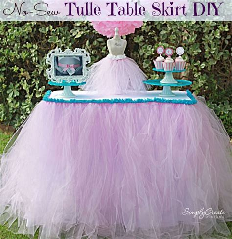 no sew tulle table skirt catch my
