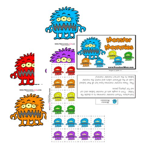 monster manners coloring page monster preschool printables