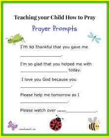Teaching your child how to pray free printable