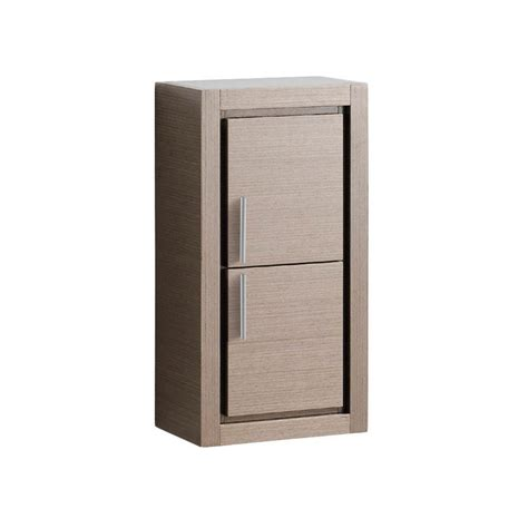bathroom linen side cabinet fresca gray oak bathroom linen side cabinet with 2 doors