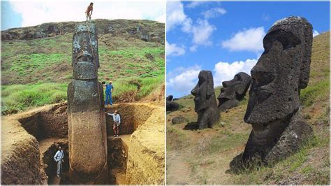 hidden bodies the famous easter island heads have hidden bodies