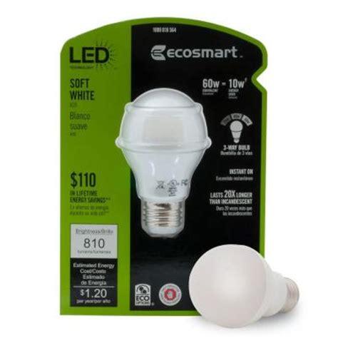 ecosmart 60w equivalent soft white 2700k a19 3 way led