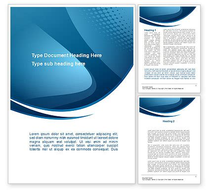 Curved Blue Word Template 10288 Poweredtemplate Com Free Phlet Template Word