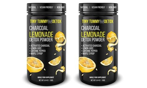Lemon Detox Charcol by Tiny Tummy Tea Detox Activated Charcoal Lemonade Powder 1