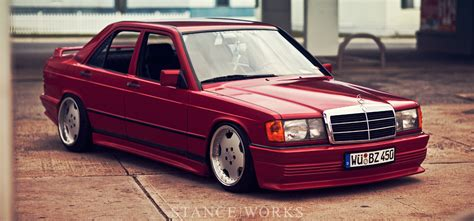 mercedes heep the leaves tom heap s mercedes 300ce stance works