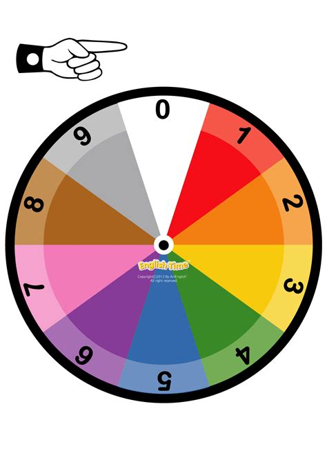 color wheel numbers 교구워크시트