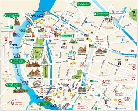 map of tourist floating markets bangkok