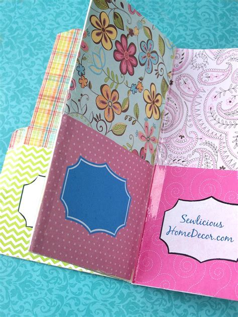 How To Make Paper Folders With Pockets - easy pocket folder organizer tutorial giveaway