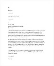 Thank You Letter Professional Sle Thank You Letter 21 Documents In Pdf Word