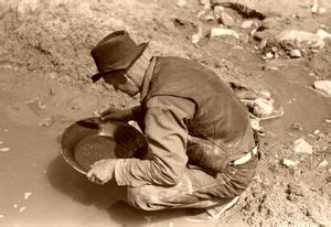 C Nel White Gold gold panning in the american west education