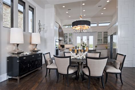 Home Dining Rooms by Neo Prairie Style Parade Home Transitional Dining Room