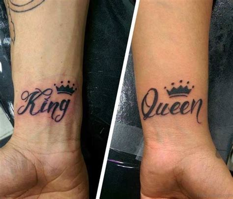 couples king and queen tattoos 48 king and tattoos for wrist