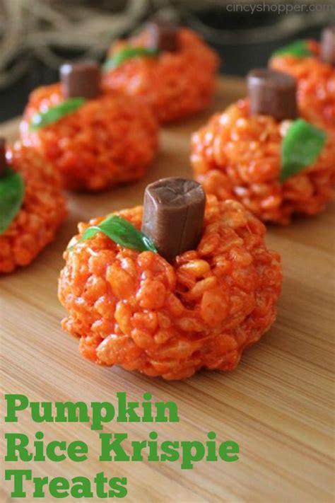 best 25 rice krispie pumpkins ideas on pinterest