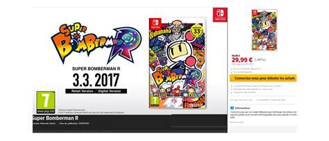 Promo Nintendo Switch Bomberman R Sby0311 1 bomberman r 224 29 99 jusqu au 8 juillet sur l eshop de la nintendo switch switch