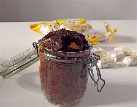 kuchen im glas rezepte backen schoko toffee kuchen im glas rezept mit bild