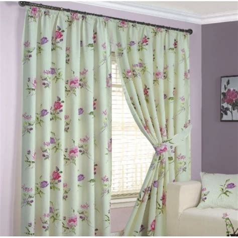 summer curtains summer garden floral water colour printed ready made